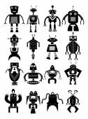 Robot icons set — Vettoriale Stock