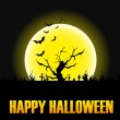 Happy Halloween message design background — Stock Vector #59614459