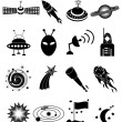 Space icons Set — Stock Vector #59614529
