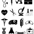 Medical and healthcare icons — Stock Vector #59614999