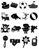 Baby Toys Icons Set — Stock Vector