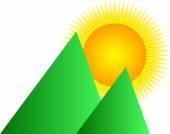 Mountain background — Stock Vector