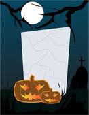 Halloween gravestone frame — Stock Vector
