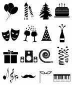 Party Icons Set — Stock Vector