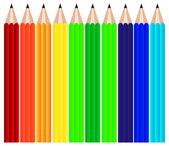 Pencils set background — Stock Vector