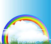 Rainbow Background — Stock Vector