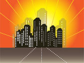 Cityscape background with buildings. — Stock Vector