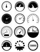 Speed Meter Icons Set — Stock vektor