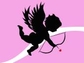 Cupid achtergrond — Stockvector