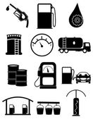 Gas station icons set — Stock Vector