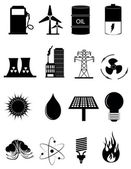 Energy And Power Source Icons Set — Stock Vector
