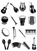 Music Instrument Icon Set — Stock Vector