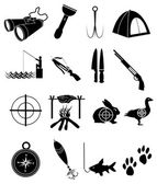 Hunting icons Set — Stock Vector