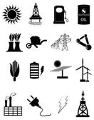 Energy And Power Icons Set — Stock Vector