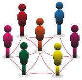 Spojování lidí — Stock vektor