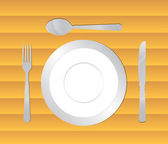 Table dine set — Stock Vector