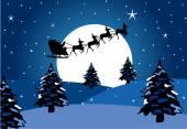 Christmas background with Santas sleigh — Stock Vector