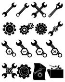 Settings tools icons set — Stock Vector