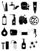 Hygiene icons — Stock Vector