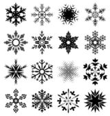 Grunge snowflake set vector illustration — Vecteur
