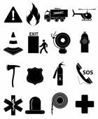 Vector black medical icon set — Stock Vector