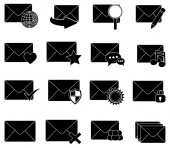 Message email icons set — Stock Vector