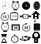 Time clock icons set — Wektor stockowy