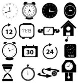 Time clock icons set — 图库矢量图片