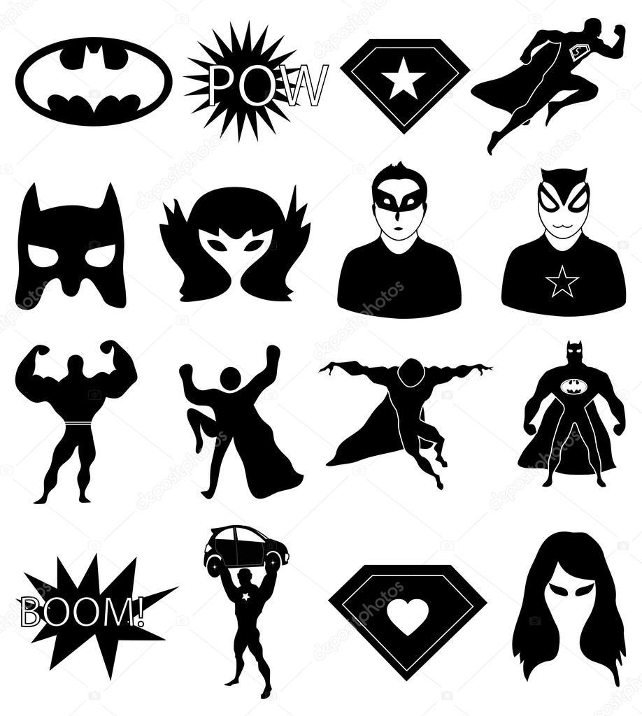 Значок супергероя картинка