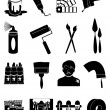 Painting icons set — Stock Vector #62896569