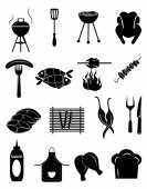 Barbecue icons set — Stock Vector