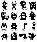 Cartoon funny animals icons set — Stock Vector