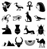 Egypt icons set — Stock Vector