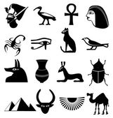 Egypt icons set — Vector de stock