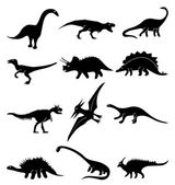 Dinosaur icons set — Stock Vector