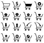Set di icone dello shopping cart — Vettoriale Stock