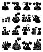 People talking icons set — Stock Vector