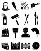 Painting icons set — Stock Vector