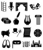 Theater icons set — Stock Vector