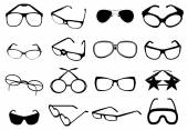 Eye glasses icons set — Stok Vektör