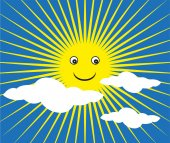 Happy sun background — Stock Vector
