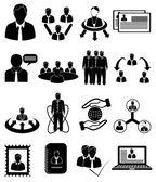 Human resource management icons set — Stock Vector