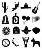 Mexico icons set — Stock Vector