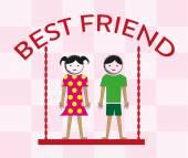 Best friends design illustration — Stock Vector