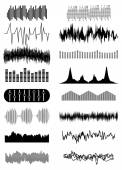 Sound wave set — Stock Vector
