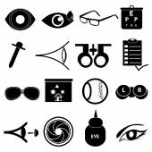 Eye care icons set — Stock Vector