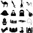 Arabian icons set — Stock Vector #65986013
