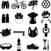 Bicycle rider icons set — Stock Vector