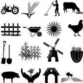 Farming icons set — Stock Vector