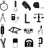 Measurement tools icons set — Stock Vector